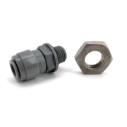 "Duotight 8mm to 1/4"" BSP Male Bulkhead (With Seated O-ring) Includes Locking Nut (suitable for 60cm Thermowells"