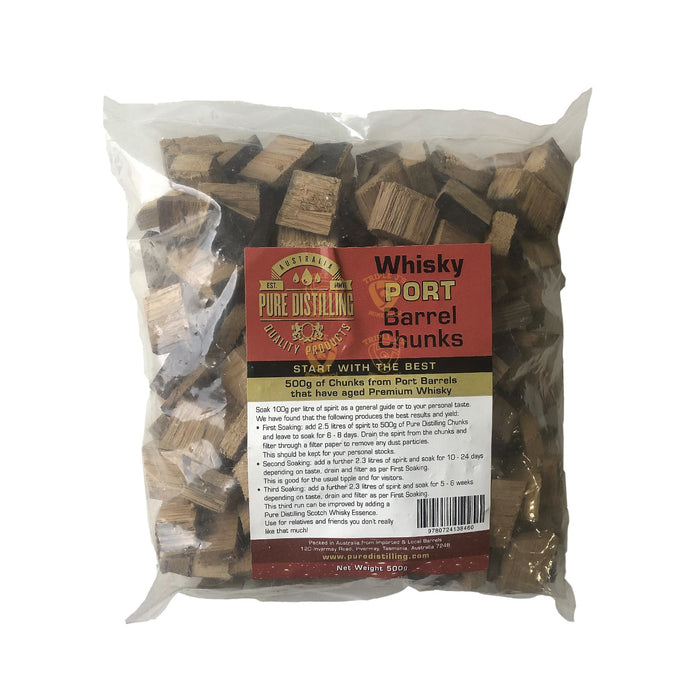 Whiskey Port Barrel Chunks