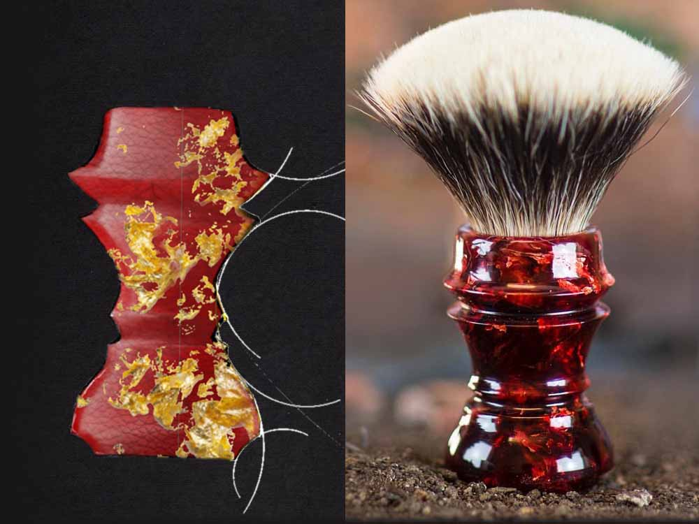 how shaving brushes are made: sketch