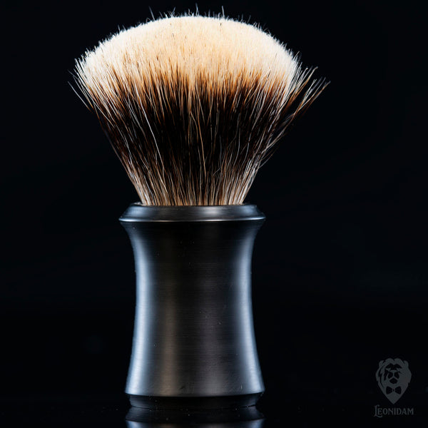"Handmade Shaving Brush ""Boss Satin"" with mat black hand poured resin."