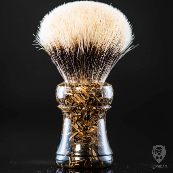 "Handmade Shaving Brush ""Gladio"" in polished mixed black resin"