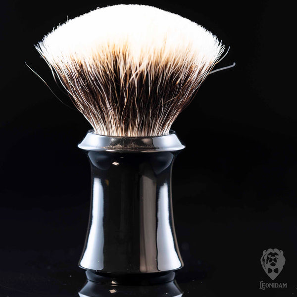 "Handmade Shaving Brush HANDLE ""Boss"" in polished black resin"