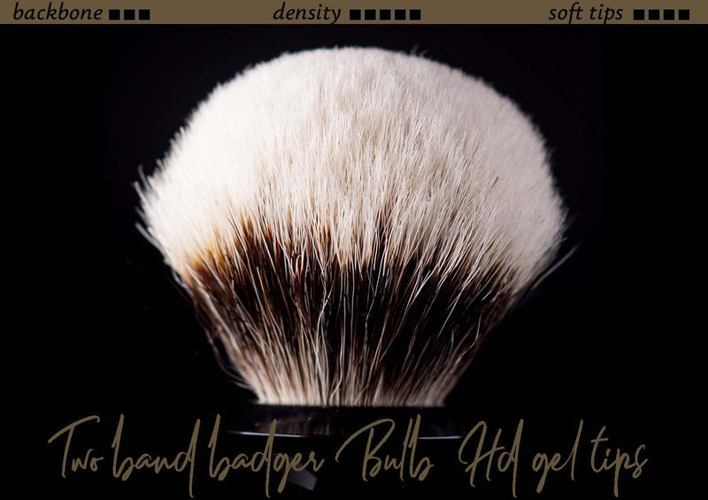 Tuft option for handmade shaving brush - Two Band Badger High density and Gel Tips Effect