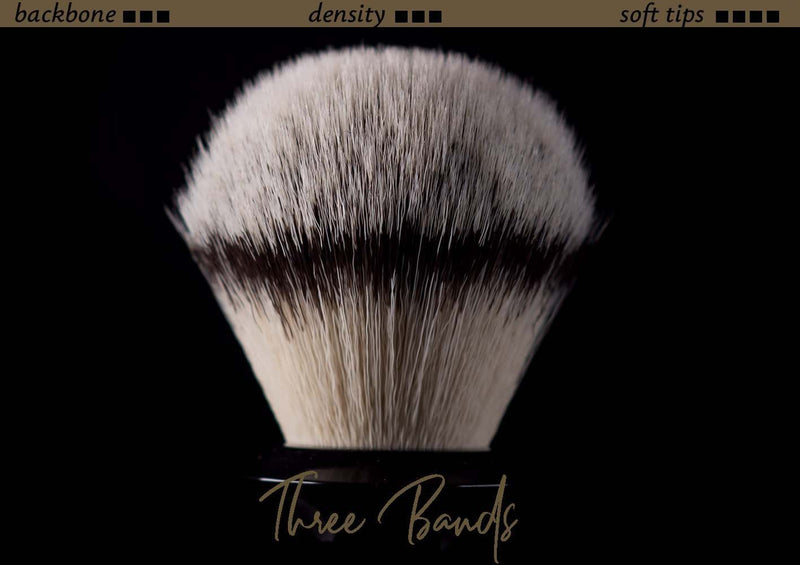 Tuft option for handmade shaving brush - Synthetic Three Bands