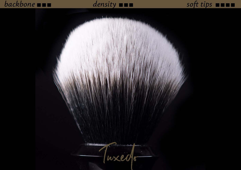 Tuft option for handmade shaving brush - Synthetic Tuxedo
