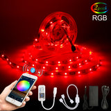 10M 5050 RGB LED Strip Light Set+WIFI/Bluetooth Mesh APP Controller+Transformer