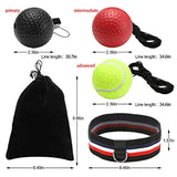 GEYUEYA Home Boxen Training Ball, Reflex Fightball, Punch Boxing Ball mit Kopfband,Reflex Speed Training Boxen- Praktische Ausbildung im Studio oder im Freien(Enthält schwarz, rot, gelb)