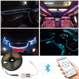 Sumaote Bluetooth RGB & RGBW LED controlador tira de luces LED