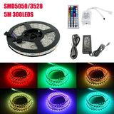 LED Waterproof RGB Strip Light SMD3528 5050 LED Lights Strips Tape set Low Voltage 12V 60pcs LEDs/Meter