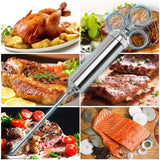 GEYUEYA Home Meat Injector Kit, BBQ Grill Accessories 2-oz Capacity Stainless Steel Meat Marinade Injector with 3 Professional Needles