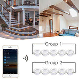 WiFi Deck Lighting, FVTLED WiFi Controlled 6pcs Low Voltage LED Step Lights Kit