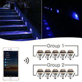 WiFi Deck Lights,LED Deck Lights Kit Outdoor Recessed Step Stair Warm White LED Lighting