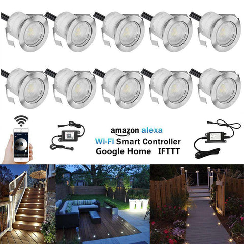 D30 10Pcs/lot 30mm 12V IP67 Terrace LED Deck Stair Step Rail Lights