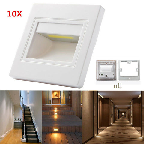 10X Warm White 2.5W LED Wall Corner Lights Plinth Recessed Stair Stage Lamp