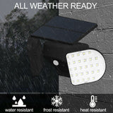Solar Power Wall Lights Outdoor Garden Lamp 56 LEDs PIR Motion Sensor Waterproof  1245