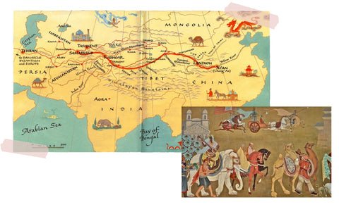 the silk road historical map