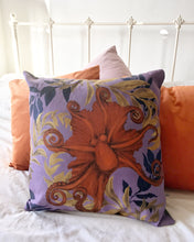 Load image into Gallery viewer, Octopus Cushion 'Octpoda' In Vegan friendly Suede with watercolour hand painted design, purple cushion