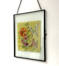 Load image into Gallery viewer, Glass Framed botanical Silk print Wall decor