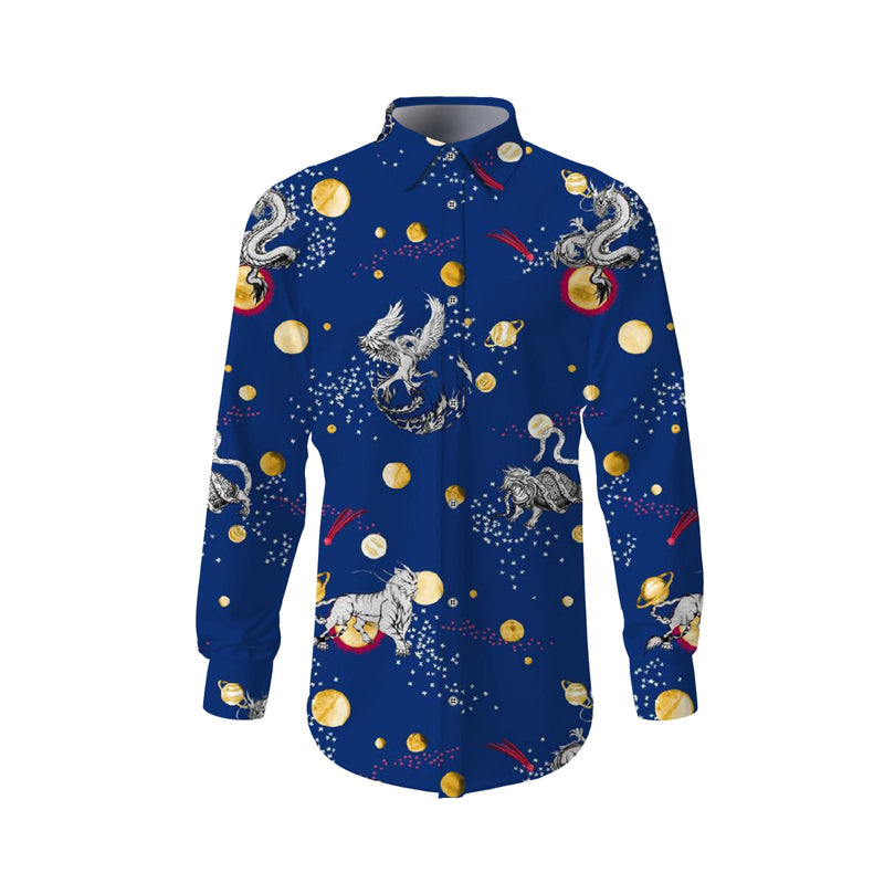 Royal Blue Fantasy Designer Shirt