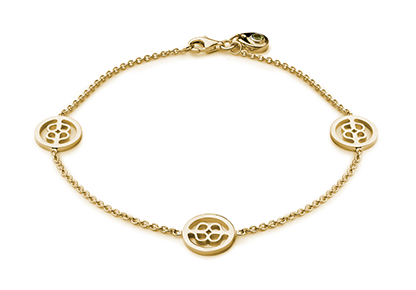 Gold Medallion Bracelet | Awe Inspired