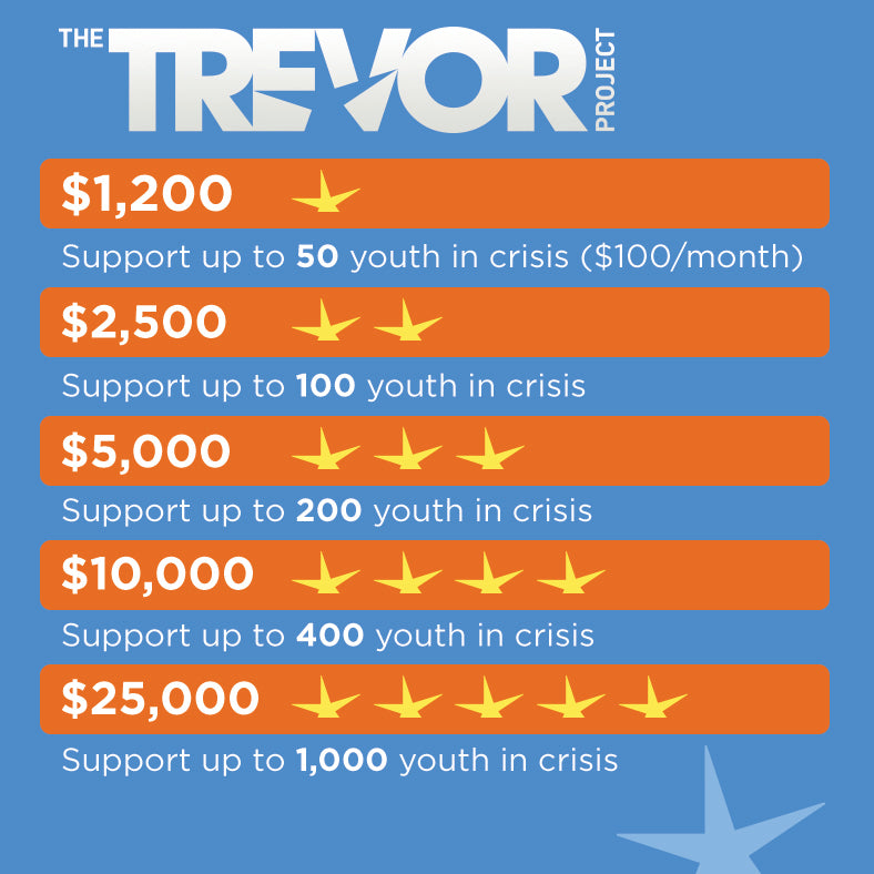 Trevor Project Fundraising Infographic | Awe Inspired