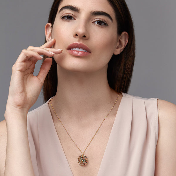 Large Dreamcatcher Pendant-Necklaces-Awe Inspired