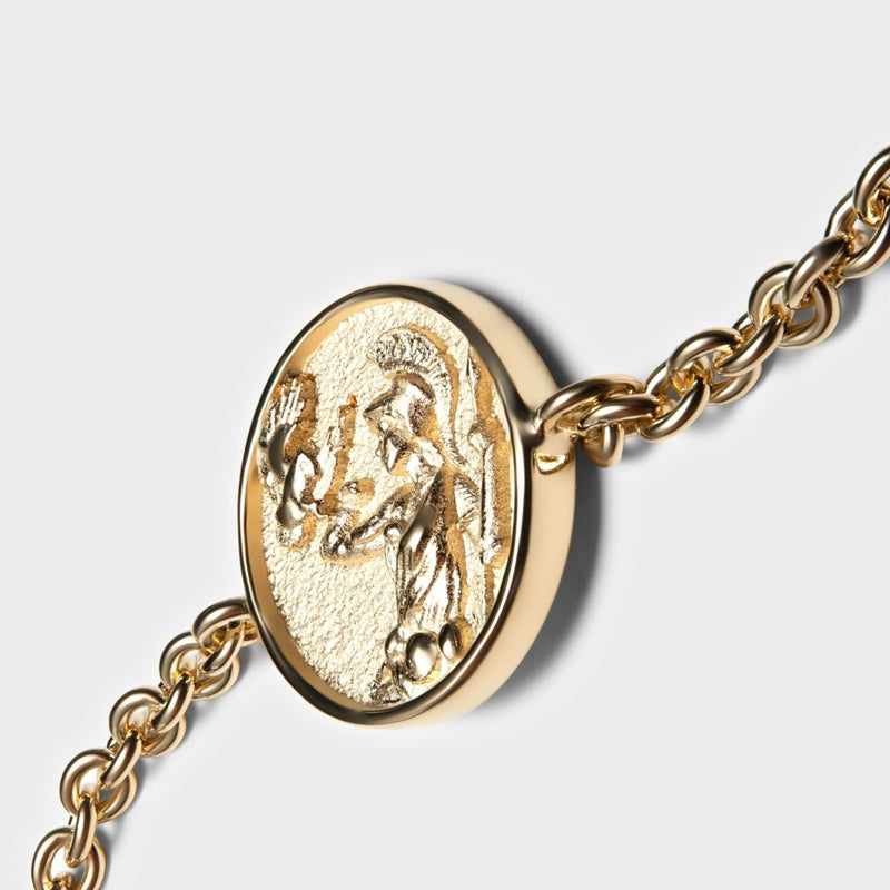 Athena Coin Bracelet - 14k Yellow Gold Vermeil-Bracelets-Awe Inspired