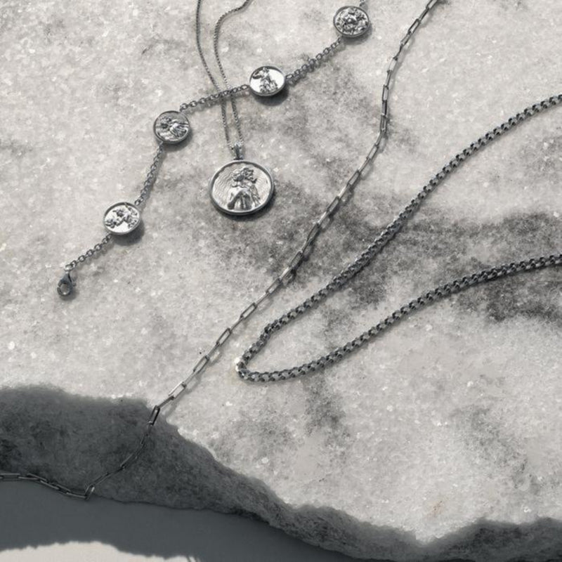 Mulan Coin Necklace - Sterling Silver-Necklaces-Awe Inspired