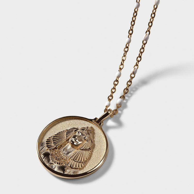 Mini Cleopatra Coin Necklace-Necklaces-Awe Inspired