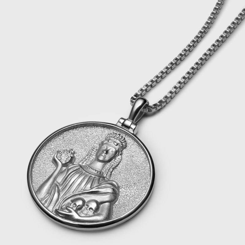 Persephone Coin Necklace - Sterling Silver-Necklaces-Awe Inspired