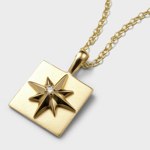 North Star Charm Necklace-Necklaces-Awe Inspired