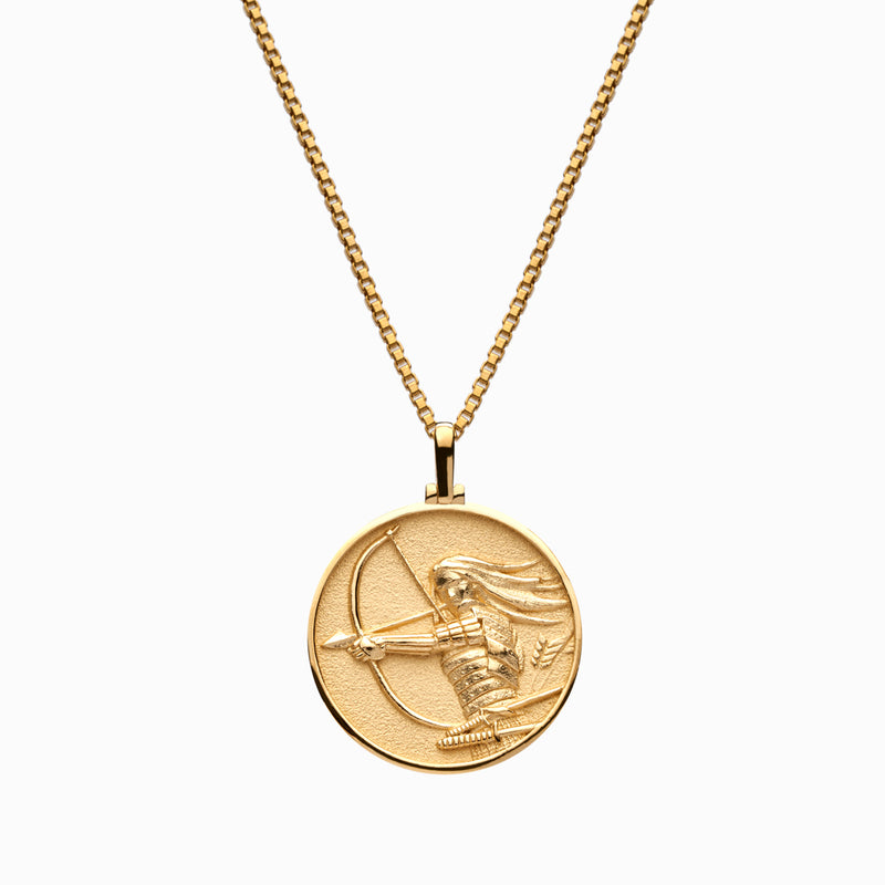 Solid 14k Yellow Gold Mulan Necklace-Necklaces-Awe Inspired