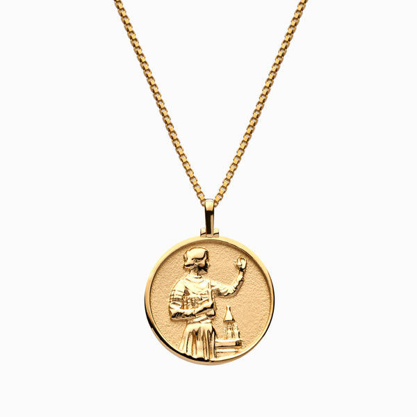 Solid 14k Yellow Gold Marie Curie Necklace-Necklaces-Awe Inspired