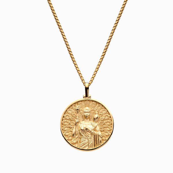 Solid 14k Yellow Gold Hera Necklace-Necklaces-Awe Inspired