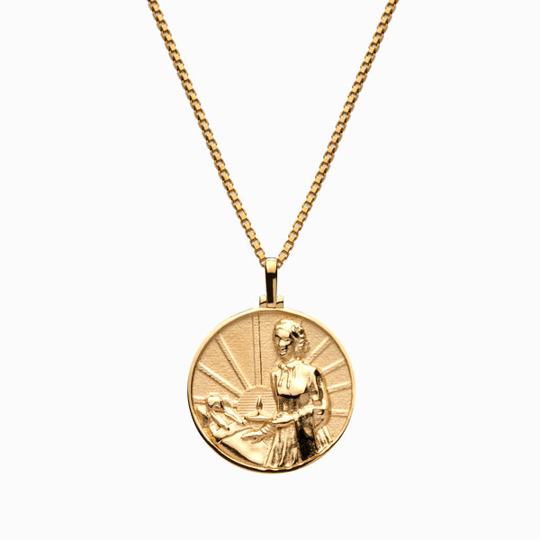 Solid 14k Yellow Gold Florence Nightingale Necklace-Necklaces-Awe Inspired