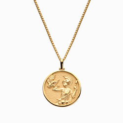Solid 14k Yellow Gold Athena Necklace-Necklaces-Awe Inspired