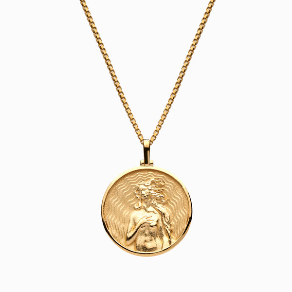 Solid 14k Yellow Gold Aphrodite Necklace-Necklaces-Awe Inspired