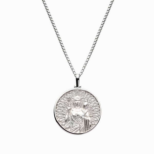Solid 14k White Gold Hera Necklace-Necklaces-Awe Inspired