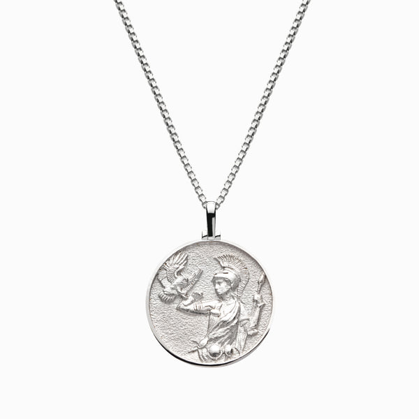 Solid 14k White Gold Athena Necklace-Necklaces-Awe Inspired