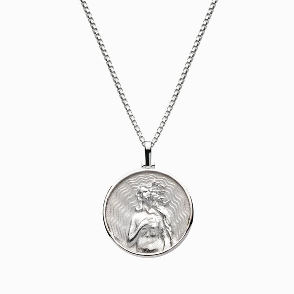 Solid 14k White Gold Aphrodite Necklace-Necklaces-Awe Inspired