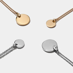 Diamond Bale Disc-Necklaces-Awe Inspired