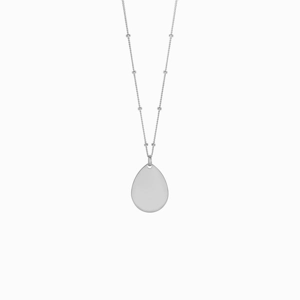 "Teardrop Pendant (22"" Saturn Chain)-Necklaces-Awe Inspired"