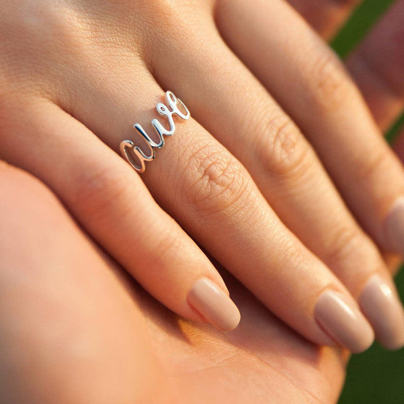 CURSIVE RING-Rings-Awe Inspired