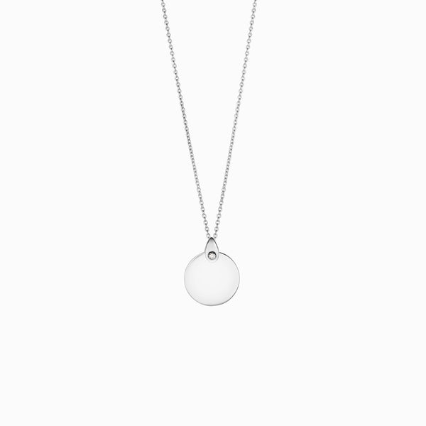 DIAMOND TEARDROP BALE DISC-Necklaces-Awe Inspired