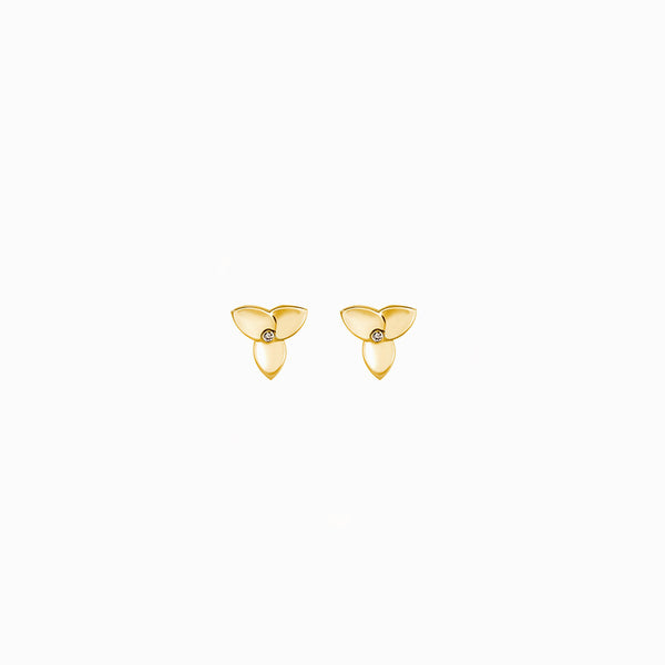 DIAMOND LILY STUDS-Earrings-Awe Inspired