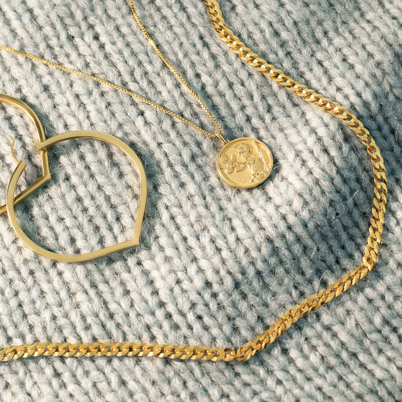 Curb Chain - 14k Yellow Gold Vermeil-Necklaces-Awe Inspired