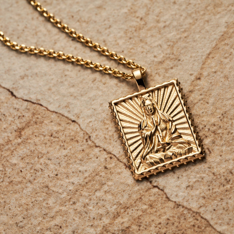 Quan Yin Tablet Necklace-Necklaces-Awe Inspired