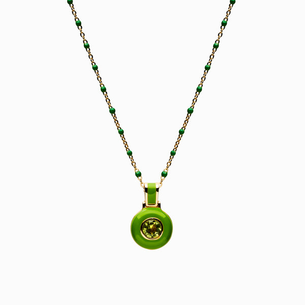 Green Aura Necklace-Necklaces-Awe Inspired