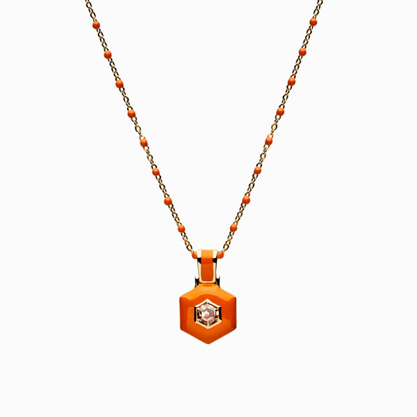Orange Aura Necklace-Necklaces-Awe Inspired