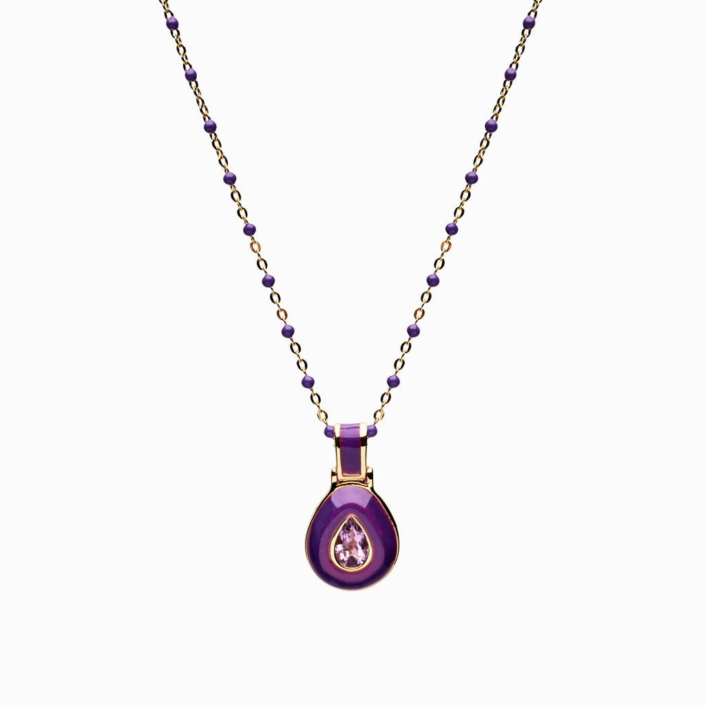 Violet Aura Necklace-Necklaces-Awe Inspired